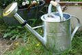 Giesskanne Feuerverzinkt mit Holzgriff, 5 Liter, Metall