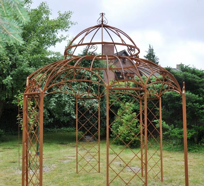Gartenpavillon Metall Romantik Rost Ø 400cm