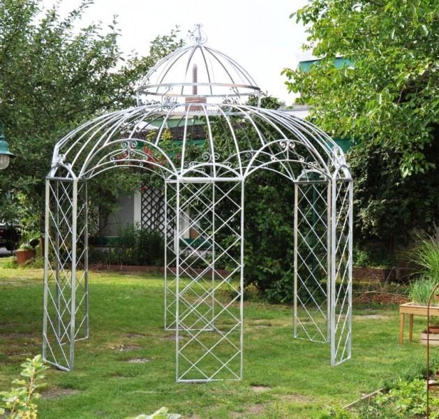 gartenpavillon metall romantik feuerverzinkt 400cm. Black Bedroom Furniture Sets. Home Design Ideas
