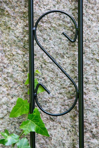Laubenverbinder 12mm verziert für Laubengang schwarz