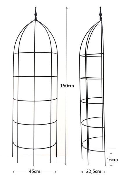 Rankgerüst Metall halbrund Jumbo 150 rost
