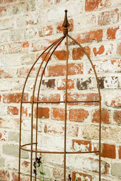 Halbrundes Rosenspalier 150cm hoch, 22,5cm Tief in Edel-Rost
