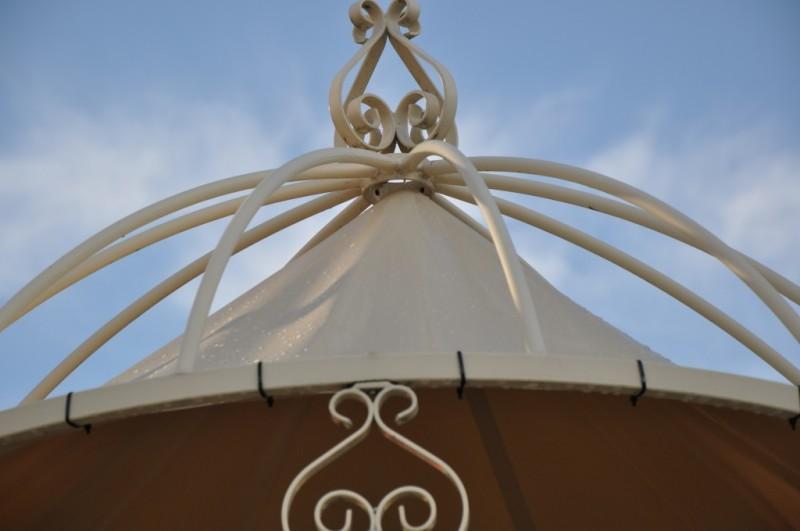Sonnenschutz für Gartenpavillon Romantik Ø 340cm