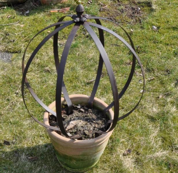 Rankhilfe Metall Pflanzkugel rost - braun Ø 50cm