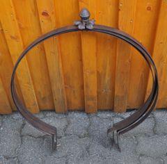 Rankhilfe Metall Pflanzkugel rost - braun Ø 60cm