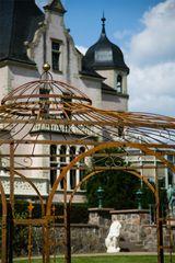 Gartenpavillon Metall Rost Ø 350cm Eleganz