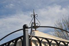 Gartenpavillon Metall Verona Schwarz + Verzinkt