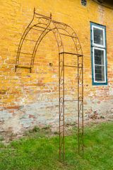 Wand - Rosenbogen Metall B: 160cm Rost mit Spitze