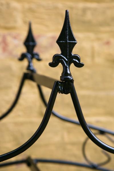 Wand - Rosenbogen Metall B: 160cm Schwarz mit Spitze