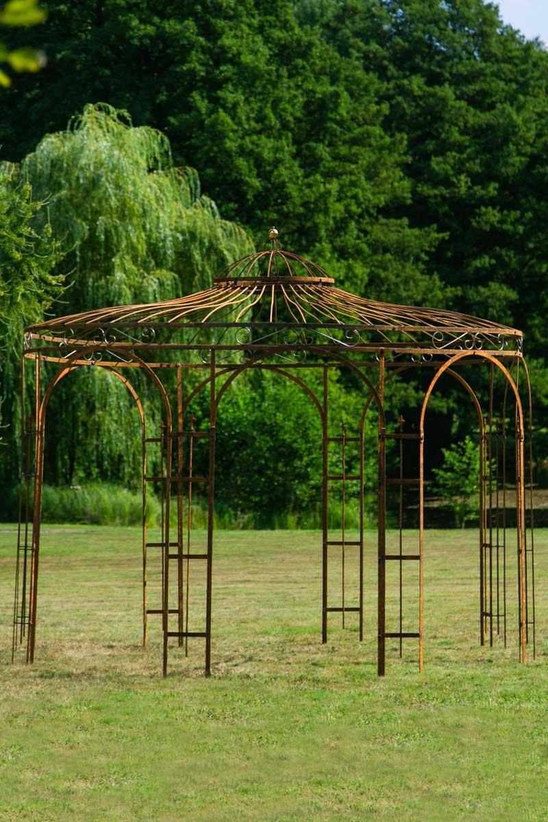 gartenpavillon metall rost 250cm eleganz. Black Bedroom Furniture Sets. Home Design Ideas