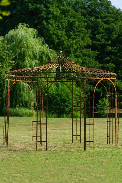 Gartenpavillon Metall Rost Ø 250cm Eleganz