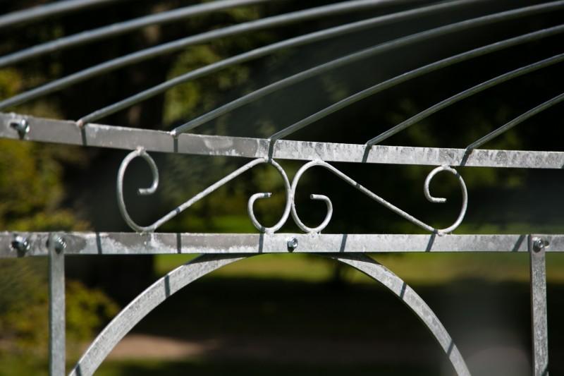 gartenpavillon metall verzinkt farbe 250cm eleganz. Black Bedroom Furniture Sets. Home Design Ideas