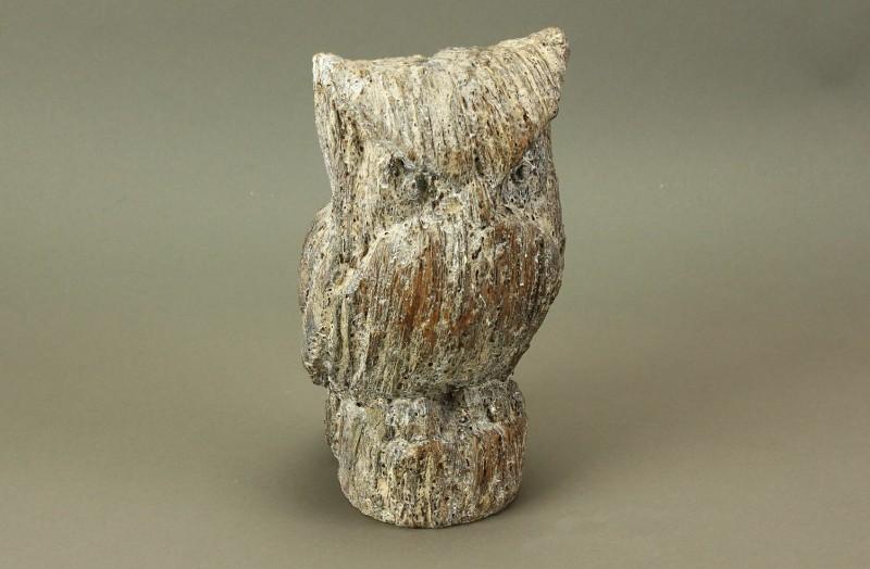 Figur Eule Holz - Optik Ligno, klein