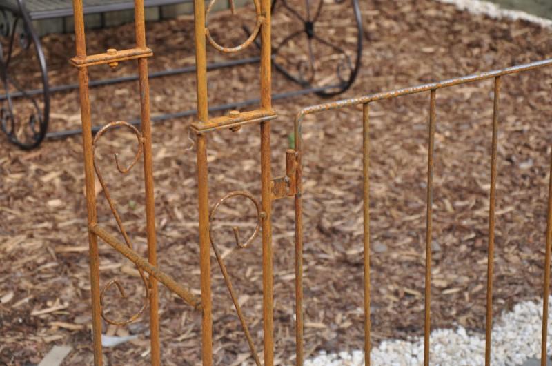 Rosenbogen B: 140cm Rost mit Türen / Tor RUND
