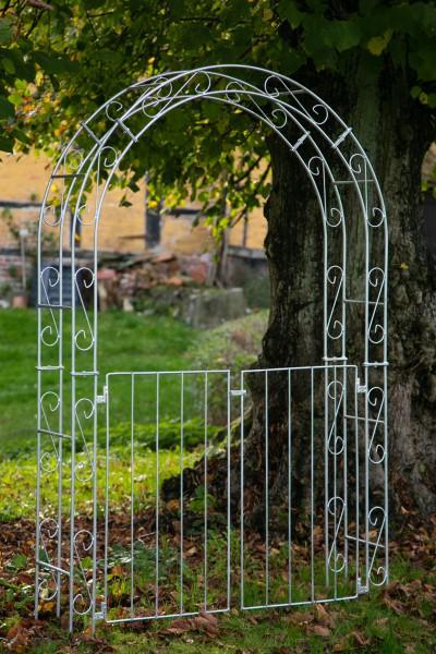Rosenbogen B: 140cm ZINK mit Türen / Tor RUND