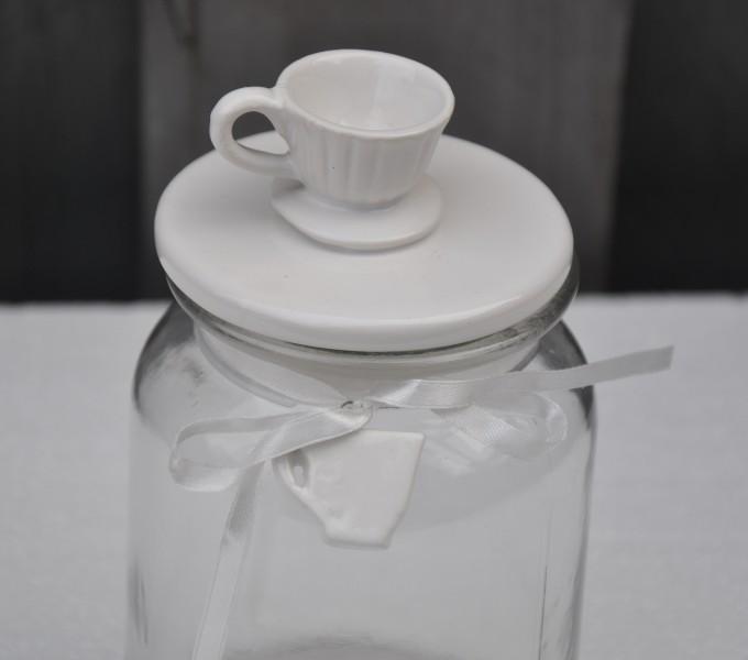 Bonbonglas mit Deckel / Vorratsdose Teetasse
