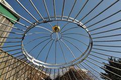 Gartenpavillon Metall Verzinkt + Farbe Ø 550cm Eleganz