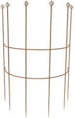 Rankgitter Metall halbrund Sevilla, rost H: 120cm