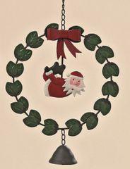 Türkranz Weihnachtsmann hängend