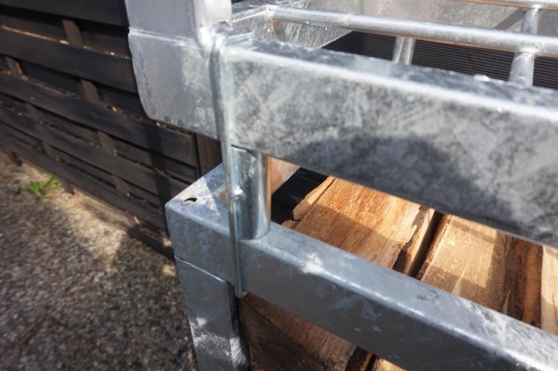 Verbinder für Kaminholzregal Angula, Zink