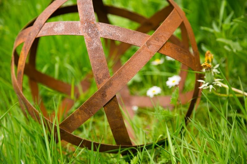 Dekokugel, Rost Ø 30cm Bando, mittel