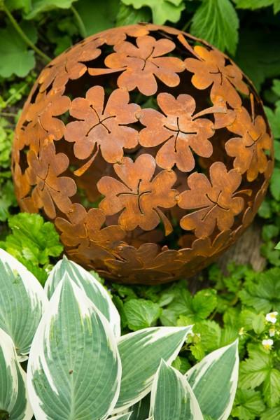 Dekokugel, Rost Ø: 35cm, Blume
