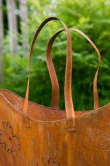 Tasche / Pflanztasche Metall Rost, groß