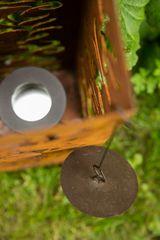 Feuersäule / Säule aus Metall Edelrost H: 60 cm