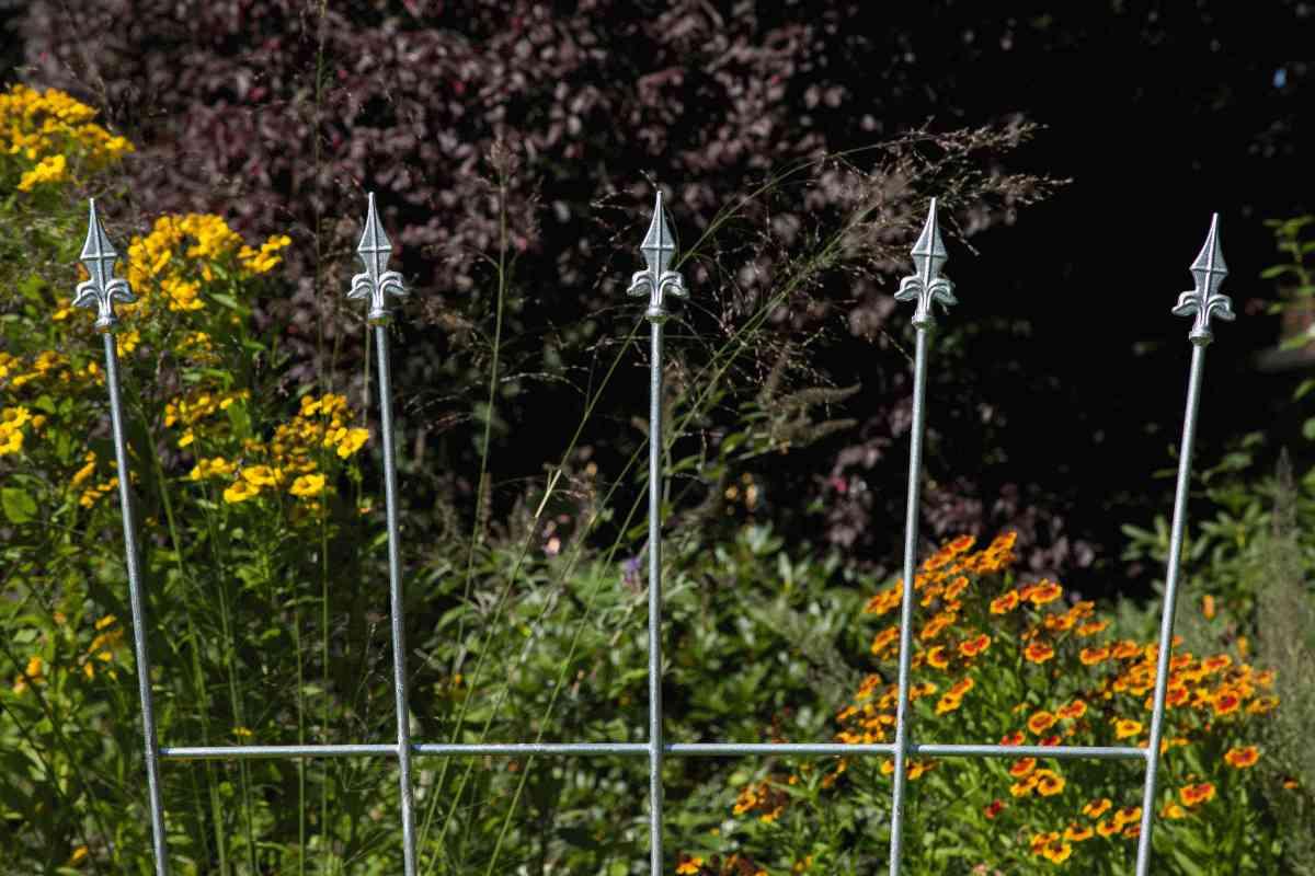 Rankgitter Höhe 170 cm Metall Rankhilfe Rankgerüst schwarz Schmiedeeisen