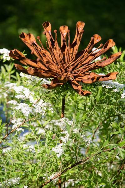 Gartenstecker / Dekoblume Antoinette, Edelrost