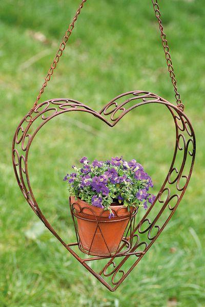 Blumenampel Herz, groß - Länge 82cm