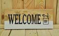 """Wandbild aus Holz """" Welcome """""""