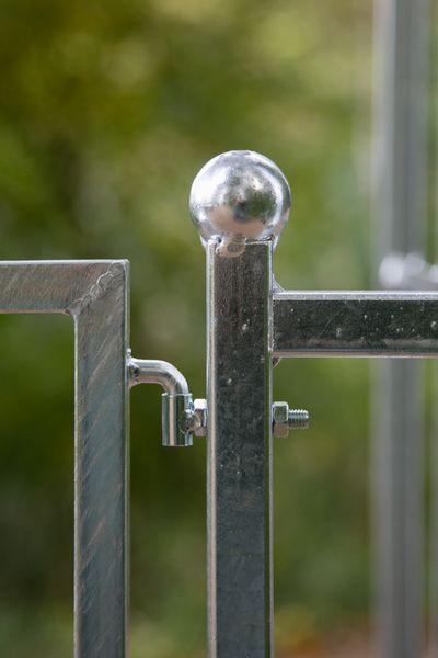 Rosenbogen Metall Classic mit Tor / Tür , Verzinkt