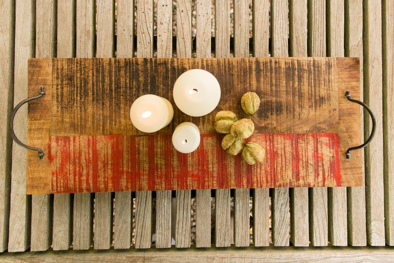Kerzenbrett Roland aus Holz, sortiert