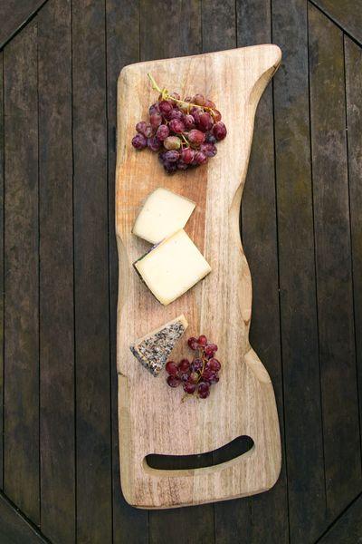 Snackplatte aus Holz
