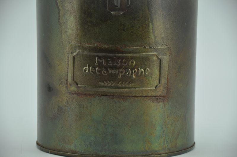 Dekodose aus Metall, Farbe: Antik - Grün - sortiert