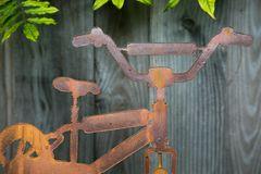 Gartenstecker Fahrrad Edelrost