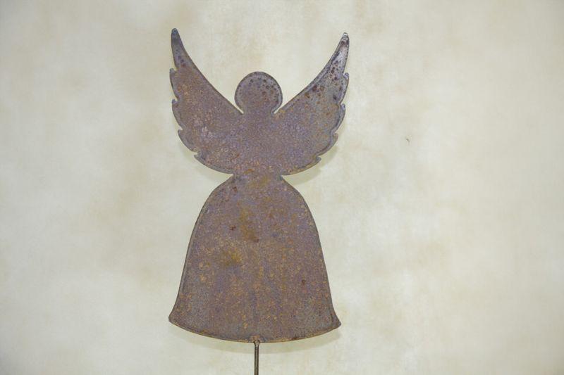 Gartenstecker Engel Edelrost