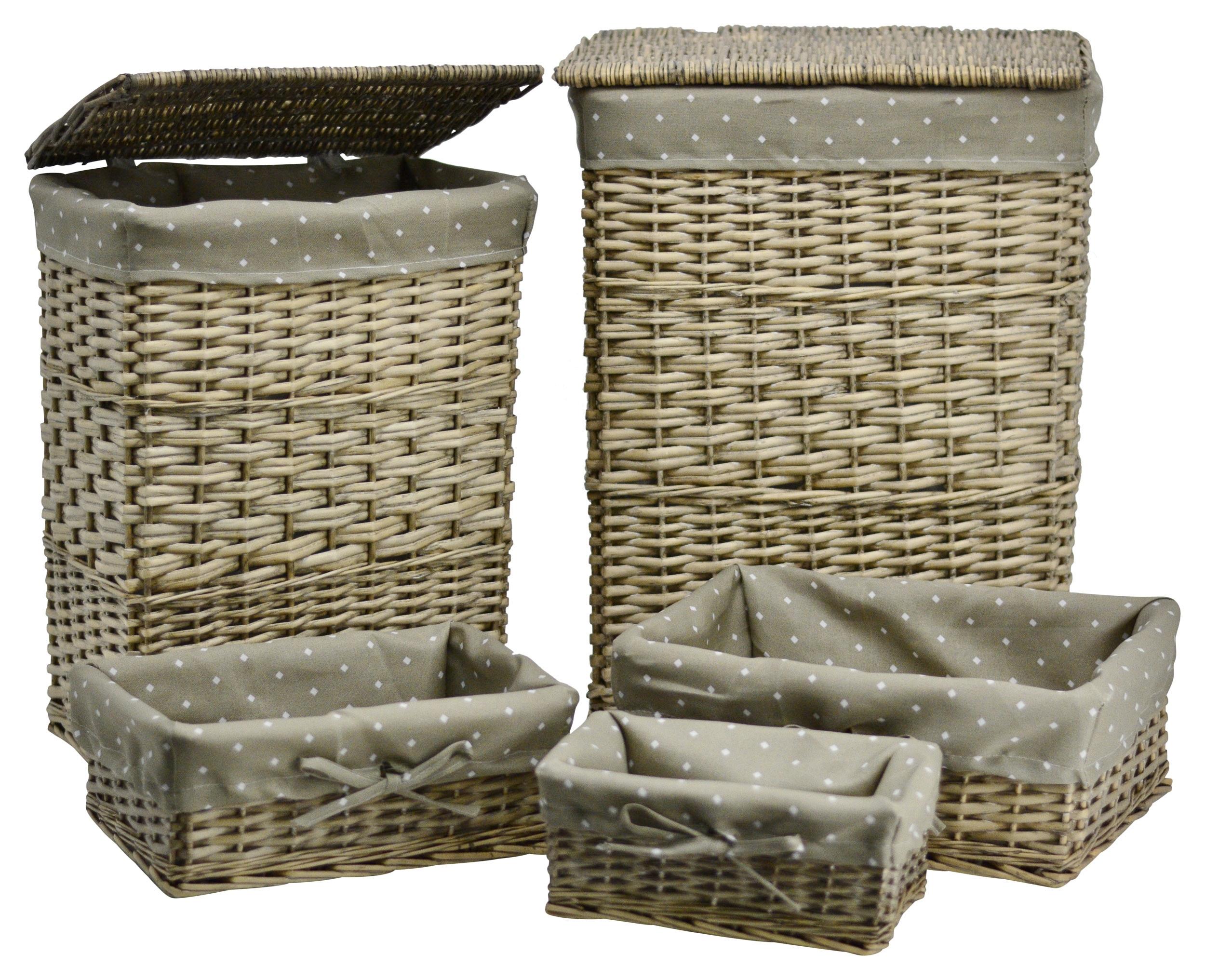 w schekorb aus weide eckig h he 56cm korb weidenkorb mit. Black Bedroom Furniture Sets. Home Design Ideas
