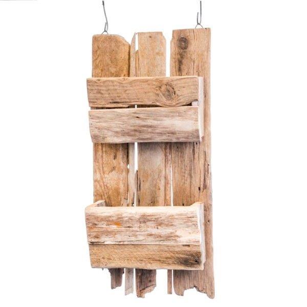 Wandregal Holz Shabby - 2 Fächer