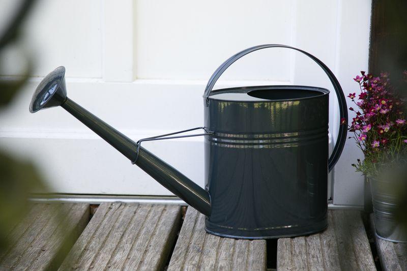 Gießkanne Anthrazit + Zink Metall Bruna 10 Liter