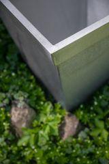Pflanztopf / Zinktopf in Antik - Zink Koni groß
