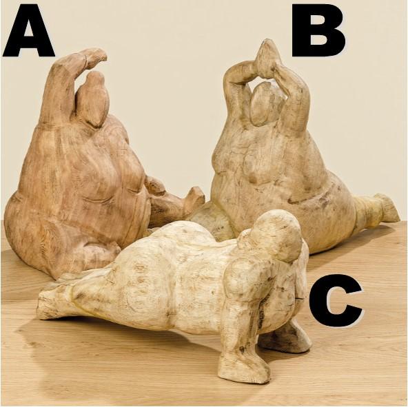Figur Yoga aus Holz, versch. Ausführungen