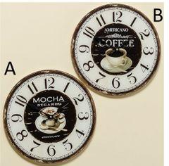 Wanduhr / Küchenuhr - Coffee / Mocha - sortiert