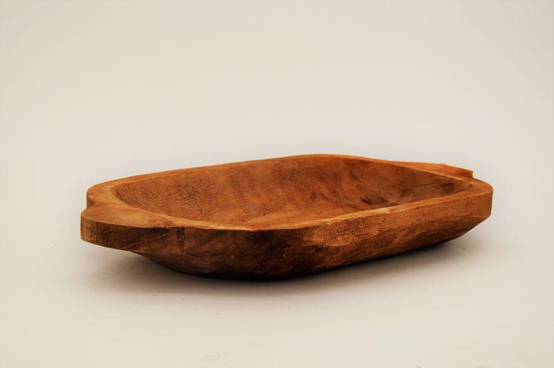 Dekoschale Cordia / Obstschale aus Pappelholz, mit Griff