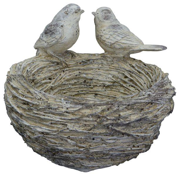 Vogeltränke aus Terracotta, Nest
