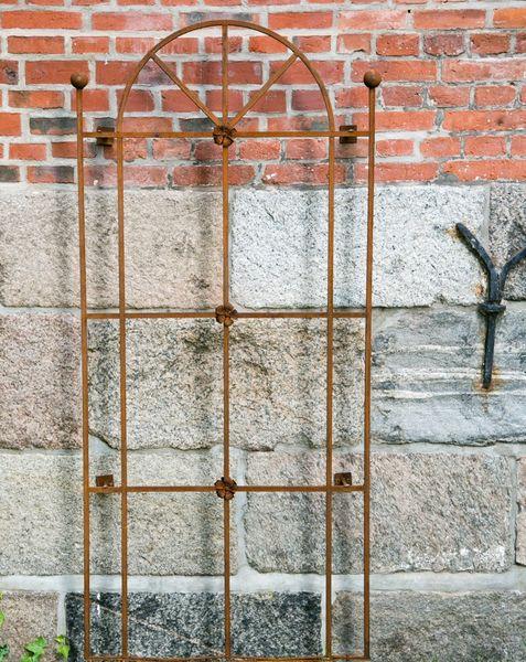 Rankgitter Metall Toscana inkl. 4x Wandhalter Rost