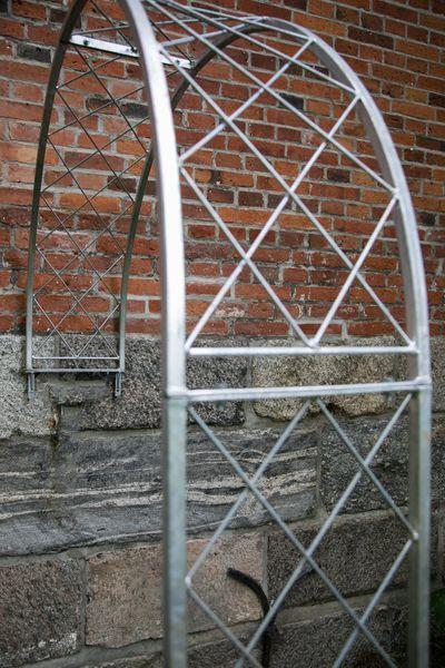 Wandrosenbogen Metall Porto Gross / Breite: 150cm, Zink