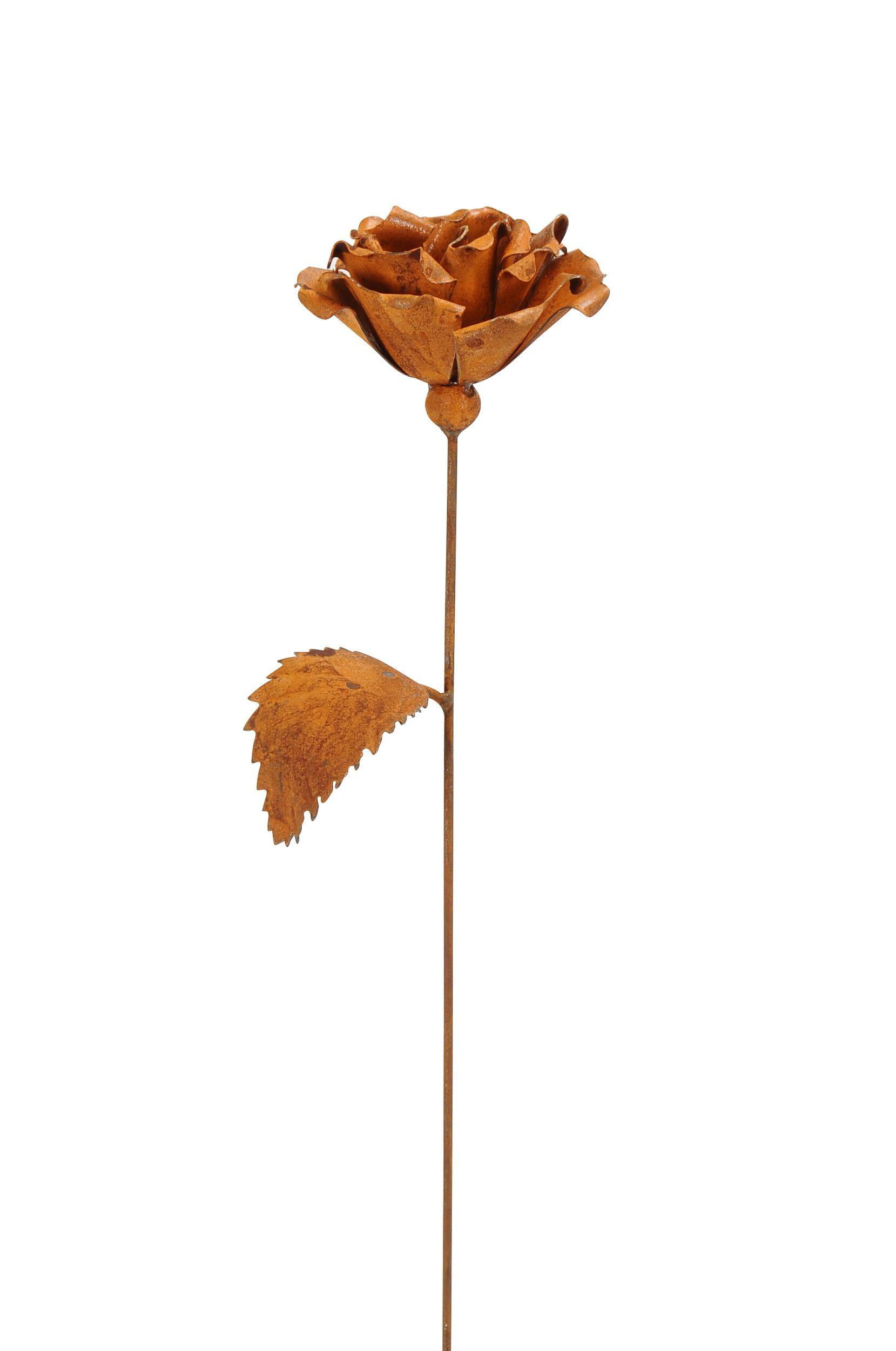 Gartenstecker Rose Charlotta in Edelrost-Optik