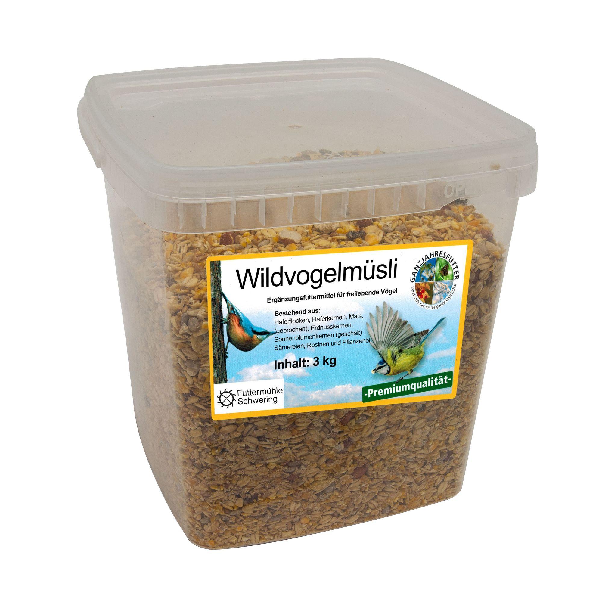 Wildvogelmüsli schalenfrei, 3 kg Eimer